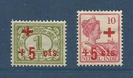 Inde Neerlandaise 1915 Yvert 118 * + 120 * Au Profit De La Croix Rouge MH - Niederländisch-Indien