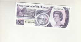 St. Helena 50 Pence &  1 Pound UNZ - Sainte-Hélène
