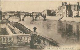 Romans-sur-Isere 1911; Le Pont Et La Cathédrale - écrite. - Romans Sur Isere