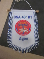 FANION MILI  CSA 48 RT AGEN CLUB SPORTIF/ 15 X 24 CM - Flags