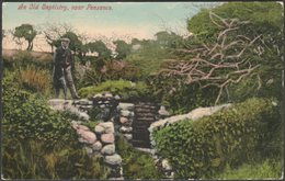 An Old Baptistry, Near Penzance, Cornwall, 1908  - Lethby's Bazaar Postcard - England