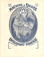 FACTURE 4 PAGES 1920 MACHINES A COUDRE HENRI VIBERT TRUCHON VIENNE ISERE - MAISON D'ART COLOTTE HOREL NANCY - DESSIN COQ - France