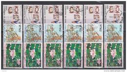 REPUBBLICA:  1982  GIORNATA  DEL  F.LLO  -  S. CPL. 3  VAL. US. -  RIPETUTA  6  VOLTE  -  SASS. 1616/18 - 6. 1946-.. Repubblica
