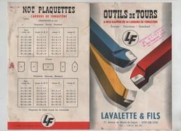 Publicité Outils De Tours Carbure Tungstène Burtin Lyon Lavalette Vitry Sur Seine  LF - Unclassified