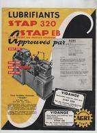 Publicité Lubrifiants Stap 320 EB Vidange Houghton Puteaux Agri - Unclassified