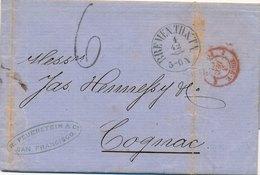 Lettre Cachet Commercial San Francisco CaD Bremen Pour Cognac - Bremen