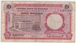 Nigeria P 8 - 1 Pound 1967 - Fine - Nigeria
