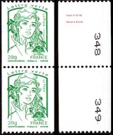 France Marianne De La Jeunesse Par Ciappa Et Kawena N° 4778,P ** Roulette Le 20 Grammes Vert Verso N° à Droite En Paire - 2013-... Marianne (Ciappa-Kawena)