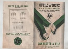 Publicité  Outils De Tours Lavalette Vitry Sur Seine LF - Sciences & Technique