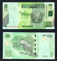 CONGO DR  -  2013  1000 Francs  UNC Banknote - Democratic Republic Of The Congo & Zaire