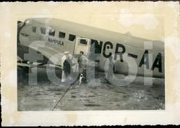 60s  REAL PHOTO FOTO AMATEUR DETA NAMPULA CR-AAL JUNKERS JU 52 PLANE AVION AIRCRAFT MOZAMBIQUE AFRICA - Aviation