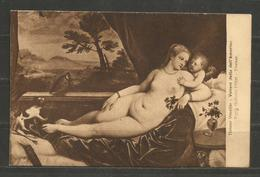 ITALIA  - TIZIANO - INTERESTING  POST  CARD   - D 1927 - Peintures & Tableaux