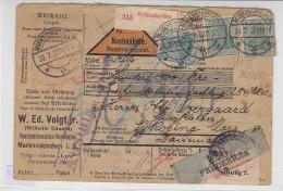 Paketkarte Aus Markneukirchen 20.7.20 Nach Nyköbing - Mors / Dänemark - Lettres & Documents