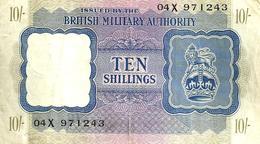 UNITED KINGDOM 10 SHILLINGS PURPLE LION EMBLEM FRONT & MOTIF BACK ND(1943) PM5 AVF READ DESCRIPTION !! - Military Issues