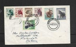 S.A.frica 1954 Wild Animals Definitives 7 Vals To 4 1/2d STELLENBOSCH 14 OCT 54, FIrst Day C.d.s. - South Africa (...-1961)