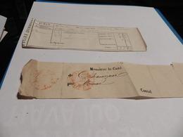 CARNET D'UN PATRON DE FERME OU D'UN  MAQUIGNON DE 1864 PLUS LOT PETITS DOCUMENTS. - Documentos Antiguos