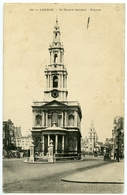 LONDON : THE STRAND - ST MARY'S CHURCH - River Thames