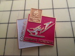 Pin1216a Pin's Pins : BEAU ET RARE : JEUX OLYMPIQUES / COMBINE NORDIQUE COURCHEVEL - Olympic Games