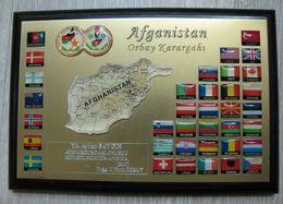 AC  -  AFGHANISTAN ORBAY HEADQUARTERS 2007 TURKISH ARMY PLAQUETTE - Army & War