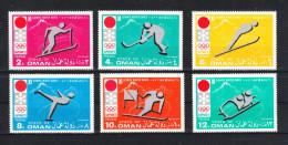 """Oman   -   1972.  Completa Rara Serie Olimpiadi Invernali """" Sapporo """". Complete Rare MNH Set Winter Olympics """"Sapporo"""" - Winter 1972: Sapporo"""