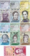 Venezuela - Set 7 Banknotes 500 1000 2000 5000 10000 20000 Bolivares 2016 - 2017 UNC Lemberg-Zp - Venezuela