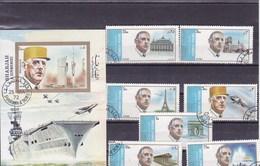 SHARJAH :de Gaulle : Y&T :lot De 7timbres Oblitérés +BF O - Sharjah