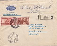 Brief Von Novara In Die Schweiz (br3557) - 6. 1946-.. Republic