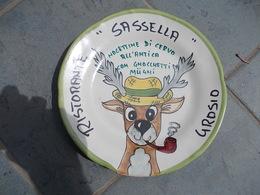 """11966-PIATTO DECORATO RISTORANTE """"SASSELLA""""-GROSIO(SONDRIO) - Plates"""