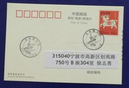 China 2003 Jilin Meteorite Rain Stamp Issue Illustrated PMK Used On Card - Astronomùia