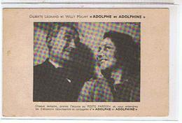 ANIMATEURS  - RADIO  -  GILBERTE  LEGRAND  ET WILLY  MAURY    ((ADOLPHE  ET ADOLPHINE)) TBE - Radio