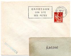 SEINE Et OISE - Dépt N° 78 = ORMESSON Sur MARNE 1957 = FLAMME SECAP ' SITE / FETES ' - Oblitérations Mécaniques (flammes)