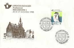 België 1988 Maldegem / Opendeur Portes Ouvertes - Lettres & Documents
