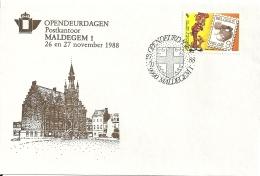 België 1988 Maldegem / Opendeur Portes Ouvertes / Strip Bande Dessinée Comics - Lettres & Documents