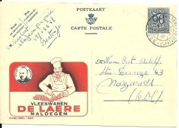 België Publibel 984 / Maldegem  De Laere / Vleeswaren Viande Meat / BAstogne >> Nazareth - Stamped Stationery