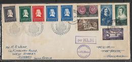S.Africa Netherlands Van Riebeek Twice Flown Covero - South Africa (...-1961)