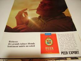 ANCIENNE PUBLICITE  NOUVEL AROME CIGARETTE PEER EXPORT 1974 - Tabac (objets Liés)