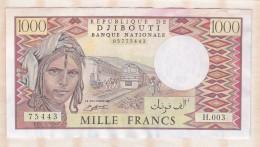 République De DJIBOUTI - Banque Nationale 1000 Francs (1991) , Alphabet H.003 ,n° 75443 - Dschibuti