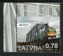 """LETONIA/ LATVIA/ LETTLAND/ LETTONIE -EUROPA 2018 - """"PUENTES.- BRIDGES - BRÜCKEN - PONTS"""".-  SERIE Del CARNET - 2018"""