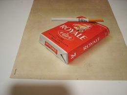 ANCIENNE PUBLICITE  CIGARETTE ROYAL 1977 - Tabac (objets Liés)