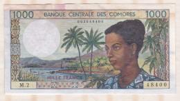 Banque Centrale Des COMORES 1000 Francs , Alphabet M.2 ,n° 48400 - Comoros