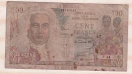 REUNION  100 Francs Type 1946 LA BOURDONNAIS, Alphabet Z.34 ,n° 10847 - Reunion