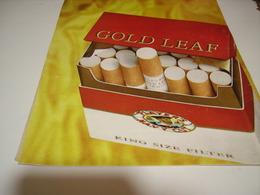 ANCIENNE PUBLICITE  CIGARETTE GOLD LEAF1978 - Tabac (objets Liés)