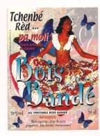 """Etiquette  - Tchenbé Réd  """" Pa Moli """" Bois Bandé , Rhum Agricole, Sirop De Sucre, Bois Bandé - Ile De Cayenne - GUYANE - - Rhum"""