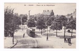 Jolie CPA Dijon (Côte-d'Or), Place De La République. - Dijon
