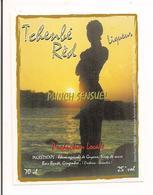 Etiquette  - Tchenbé Réd  Punch Sensuel, Rhum Agricole, Sirop De Sucre, Bois Bandé, Gingembre - GUYANE - - Rhum