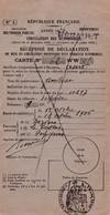 AMILCAR 1926 / Recipissé De Declaration De Mise En Circulation De Vehicule A Moteur / PREFECTURE HERAULT - Cars