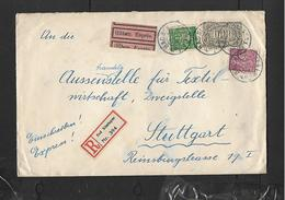 Germany Registered, Express, Franked 1060 Mk,  BAD KISSINGEN 18 JUL23 > STUTTGART 19 JUL 23 - Germany
