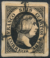 Stamp Spain 1851 6c Used Lot2 - 1850-68 Royaume: Isabelle II