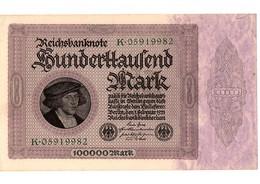 LOT DE 50 BILLETS  ALLEMAND REICHSBANKNOTE - GERMANY - 100000 Mark - 1923 - 1918-1933: Weimarer Republik