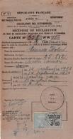 MINERVA MOTORS 1928 / Recipissé  Declaration  Mise En Circulation  Vehicule A Moteur / PREF PYRENNEES / TIMBRE 3.60 - Auto's